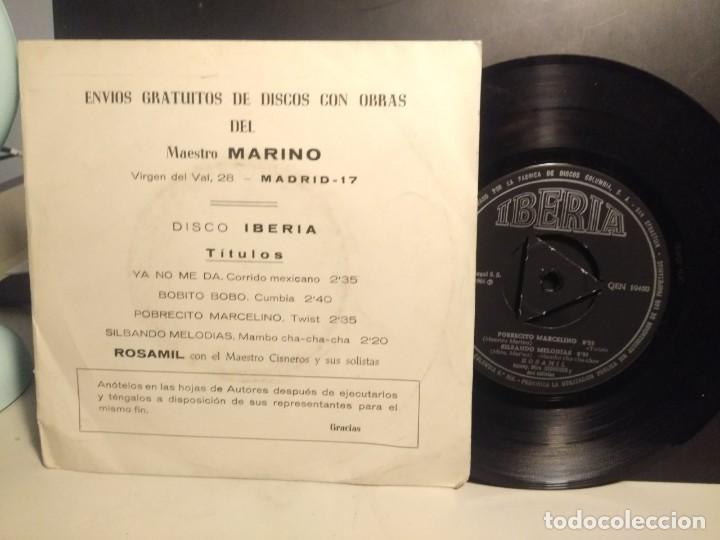 Discos de vinilo: EP ROSAMIL CON EL MAESTRO CISNEROS : OBRAS DEL MAESTRO MARINO ( CORRIDO, CUMBIA, TWIST, MAMBO) - Foto 2 - 212523335