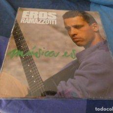 Discos de vinilo: EXPROV LP EROS RAMAZZOTTI MUSICA ES 1988 MUSICA ES. Lote 212540511