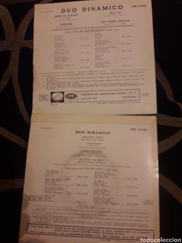 Discos de vinilo: Dos antiguos vinilos, Dúo Dinámico, de 1962 y 1963 - Foto 2 - 212565825