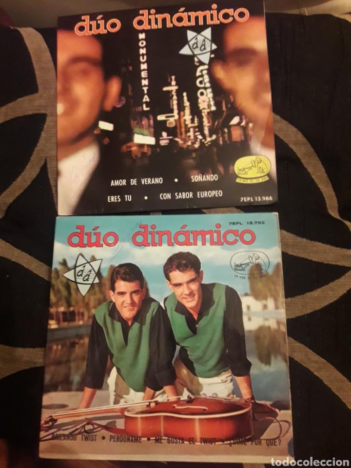 DOS ANTIGUOS VINILOS, DÚO DINÁMICO, DE 1962 Y 1963 (Música - Discos de Vinilo - Maxi Singles - Grupos Españoles 50 y 60)