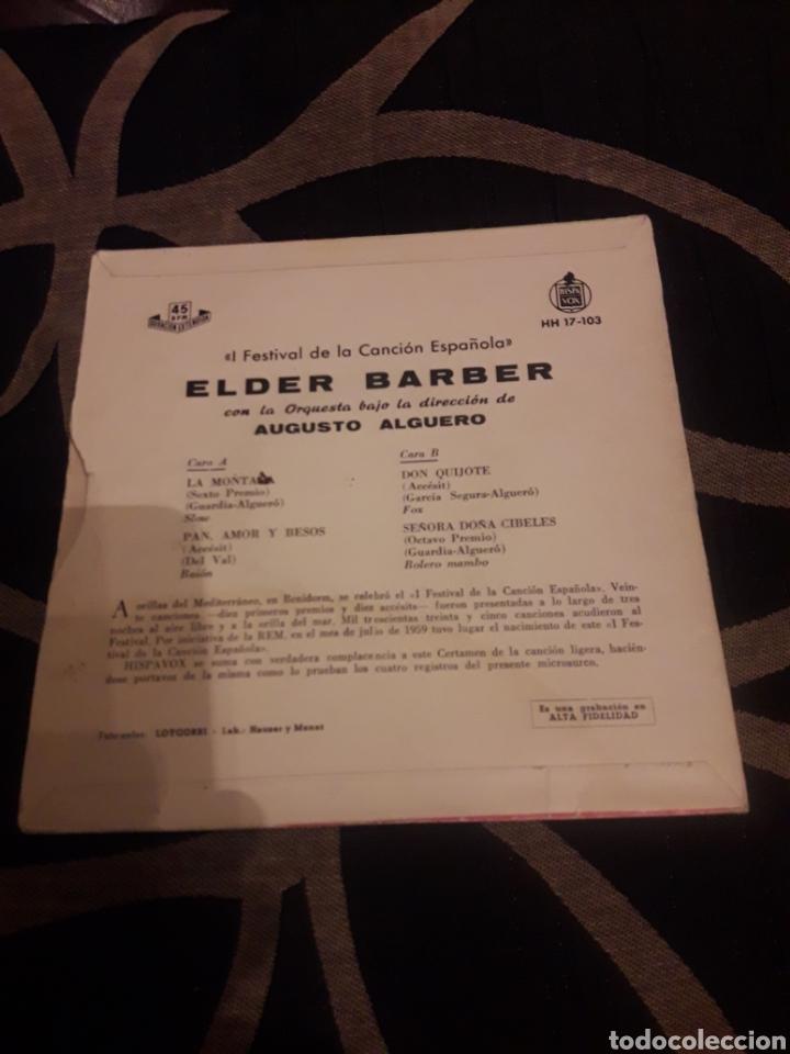 Discos de vinilo: Antiguo vinilo de Elder Barber, I Festival de la Canción de Benidorm - Foto 2 - 212567697