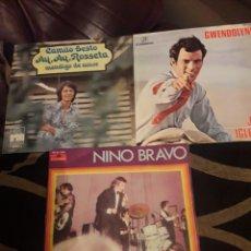 Discos de vinilo: TRES ANTIGUOS VINILOS, NINO BRAVO, JULIO IGLESIAS Y CAMILO SESTO. Lote 212568131