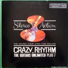 Discos de vinilo: GUITARS UNLIMITED PLUS 7: CRAZY RHYTHM - LP PORTADA ABIERTA -RCA VENEZUELA -1961 -EXCELENTE (EX/EX). Lote 212569918