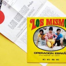 Dischi in vinile: LOS MISMOS - 45 SPAIN PS - MINT * PROMO * CON HOJA PROMO * OPERACION ESPAÑA / KI-KI-RI-KI. Lote 212584037