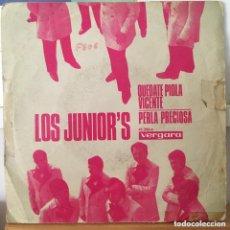 Discos de vinilo: LOS JUNIOR'S PERLA PRECIOSA SINGLE VERGARA ESPAÑA AÑO 1970. Lote 212597270