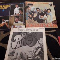 Discos de vinilo: TRES ANTIGUOS VINILOS, LOS BRINCOS, LOS PAYOS Y LOS PUNTOS. Lote 212617922