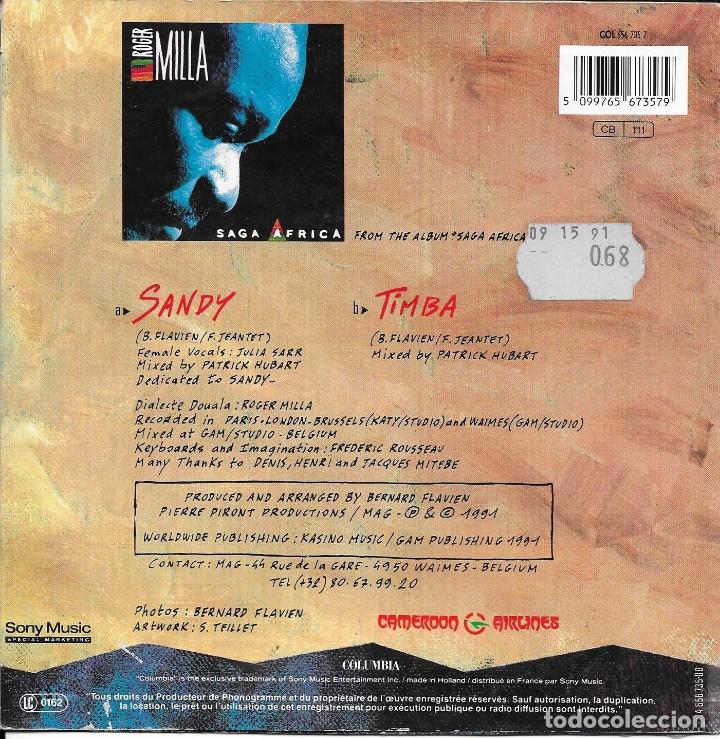 Discos de vinilo: ROGER MILLA SANDY COLUMBIA 1991 - Foto 2 - 212624158