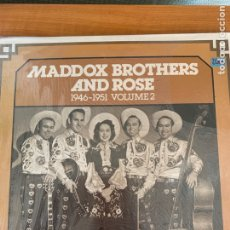 Discos de vinilo: MADDOX BROTHERS AND ROSE - 1946-1951 VOLUME 2. Lote 212635072