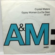Disques de vinyle: SNGLE CRYSTAL WATERS - GIYPSY WOMAN. Lote 212644930