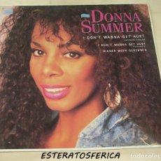 Discos de vinilo: DONNA SUMMER - I DON'T WANNA GET HURT - WEA GERMANY 1989. Lote 212651312