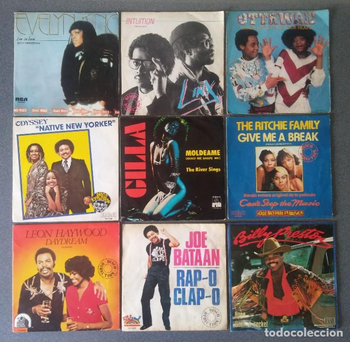 LOTE VINILOS EPS DANCE EVELYN KING INTUITION OTTAWAN ODYSSEY GILLA THE RITCHIE FAMILY LEON HAYWOOD (Música - Discos de Vinilo - EPs - Funk, Soul y Black Music)