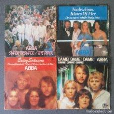Discos de vinilo: LOTE SINGLE EP ABBA SUPER TROUPER VOULEZ VOUS ESTOY SOÑANDO DAME DAME DAME. Lote 212653630