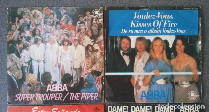Discos de vinilo: Lote Single Ep Abba Super Trouper Voulez Vous Estoy Soñando Dame Dame Dame - Foto 3 - 212653630