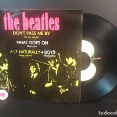 Discos de vinilo: THE BEATLES DON'T PASS ME BY, BOYS + 2 EP MEJICO 1971 PEPETO TOP. Lote 212656001