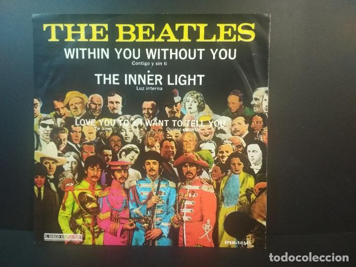 Discos de vinilo: THE BEATLES WITHIN YOU WITHOUT TOU + 3 EP MEJICO 1971 PEPETO TOP - Foto 2 - 212656446