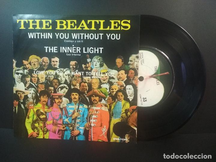 THE BEATLES WITHIN YOU WITHOUT TOU + 3 EP MEJICO 1971 PEPETO TOP (Música - Discos de Vinilo - EPs - Pop - Rock Internacional de los 70)