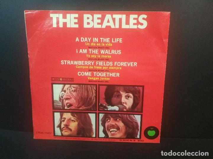 Discos de vinilo: THE BEATLES A DAY IN THE LIFE + 3 EP MEJICO 1983 PEPETO TOP - Foto 2 - 212656463