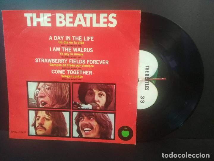 THE BEATLES A DAY IN THE LIFE + 3 EP MEJICO 1983 PEPETO TOP (Música - Discos de Vinilo - EPs - Pop - Rock - New Wave Internacional de los 80)