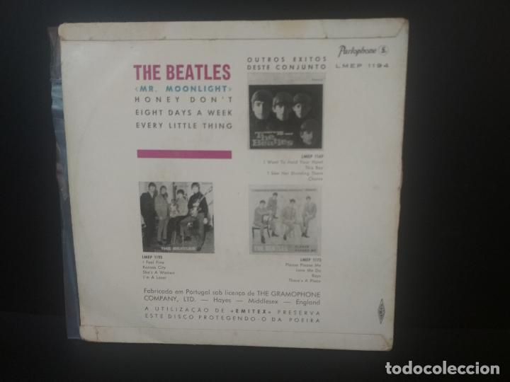 Discos de vinilo: THE BEATLES MR.MOONLIGHT, HONEY DONT +2 EP PORTUGAL 1965 PEPETO TOP - Foto 2 - 212656493
