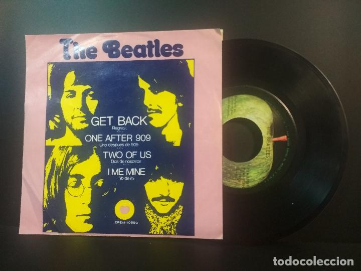THE BEATLES GET BACK + 3 EP MEJICO 1972 PEPETO TOP (Música - Discos de Vinilo - EPs - Pop - Rock Internacional de los 70)