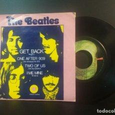 Discos de vinilo: THE BEATLES GET BACK + 3 EP MEJICO 1972 PEPETO TOP. Lote 212656538
