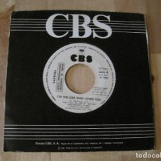 Discos de vinilo: SINGLE SANTANA I´M THE ONE WHO LOVES YOU CBS PROMO CURTIS MAYFIELD COVER. Lote 212664351