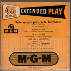 Discos de vinilo: SIETE NOVIAS PARA SIETE HERMANOS - VARIOS , EP MGM RECORDS RF-4381. Lote 212668788
