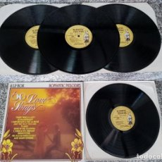 Discos de vinilo: ROMANTIC MELODIES.60 LOVE SONGS.THE HOLLYWOOD CINEMA ORCHESTRA.. Lote 212677820
