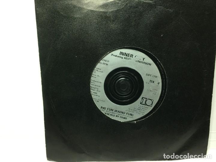 Discos de vinilo: SINGLE INNER CITY - BG FUN / BIG FUN - Foto 2 - 212709757