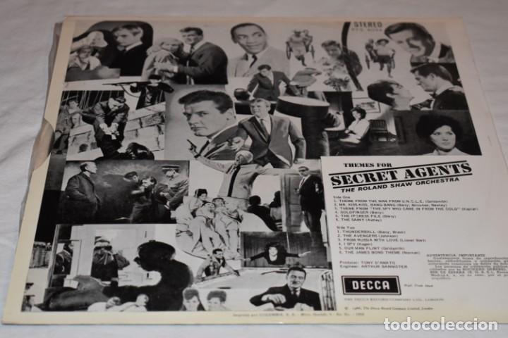 Discos de vinilo: Disco Vinilo LP Themes for Secret Agents The Roland Shaw Orchestra Phase 4 Stereo 1966 - Foto 2 - 212724872