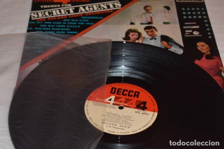 Discos de vinilo: Disco Vinilo LP Themes for Secret Agents The Roland Shaw Orchestra Phase 4 Stereo 1966 - Foto 3 - 212724872