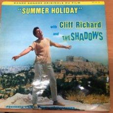 Disques de vinyle: LP CLIFF RICHARD AND THE SHADOWS BANDA SONORA PELICULA SUMMER HOLIDAY EDICION FRANCESA. Lote 212760802