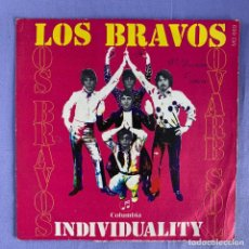 Discos de vinil: SINGLE LOS BRAVOS - INDIVIDUALITY - MADRID VG. Lote 212775392