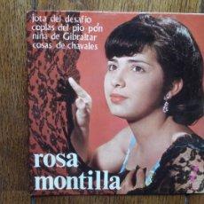 Discos de vinilo: ROSA MONTILLA - JOTA DEL DESAFÍO + COPLAS DEL PIO-PON + NIÑA DE GIBRALTAR + COSAS DE CHAVALES. Lote 212780195