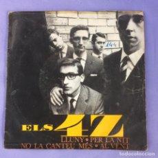 Discos de vinilo: SINGLE ELS 4 Z ?– LLUNY (GREEN SLEEVES) - VG. Lote 212784456