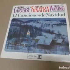 Discos de vinilo: BING CROSBY, FRANK SINATRA, FRED WERING (LP) 12 CANCIONES NAVIDEÑAS AÑO – 1965. Lote 212798365