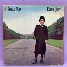 Discos de vinilo: LP A SINGLE MAN - ELTON JOHN - VG+. Lote 212799737