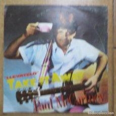 Discos de vinilo: THE BEATLES - PAUL MCCARTNEY - SINGLE PROMOCIONAL TAKE IT AWAY (LABEL ESPECIAL, EDICIÓN ESPAÑOLA). Lote 212814503