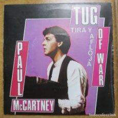Discos de vinilo: THE BEATLES - PAUL MCCARTNEY - SINGLE PROMOCIONAL TUG OF WAR (LABEL ESPECIAL, EDICIÓN ESPAÑOLA). Lote 212814517