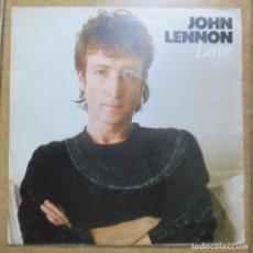 Discos de vinilo: THE BEATLES - JOHN LENNON - SINGLE PROMOCIONAL LOVE (LABEL ESPECIAL, EDICIÓN ESPAÑOLA). Lote 212814538