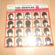 Disques de vinyle: THE BEATLES - QUE NOCHE LA DE AQUEL DIA A HARD DAYS NIGHT - ODEON 1964. Lote 212819362
