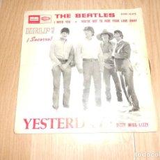 Disques de vinyle: THE BEATLES - YESTERDAY ( HELP SOCORRO ) - ODEON 1965. Lote 212820091
