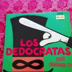 Discos de vinilo: CARNAVAL DE CÁDIZ LP LOS DEDO RATAS DEDICADO Y FIRMADO POR EL INSIGNE MÚSICO ANTONIO ESCOBAR. Lote 212826386