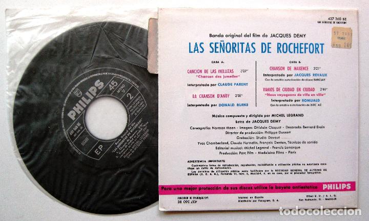 Discos de vinilo: Michel Legrand - Las Senoritas de Rochefort - EP Philips 1967 BPY - Foto 2 - 212838866