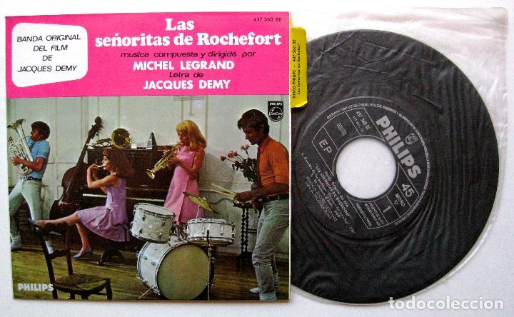 MICHEL LEGRAND - LAS SENORITAS DE ROCHEFORT - EP PHILIPS 1967 BPY (Música - Discos de Vinilo - EPs - Bandas Sonoras y Actores)