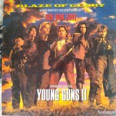 Discos de vinil: JON BON JOVI. BLAZE OF GLORY (YOUNG GUNS II BSO). VERTIGO, SPAIN 1990 LP + ENCATE. Lote 212839951