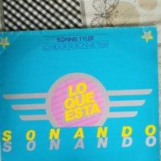 Discos de vinilo: LO MEJOR DE BONNIE TYLER - LO QUE ESTÁ SONANDO - DISCO PROMOCIONAL - 1979. Lote 212840976