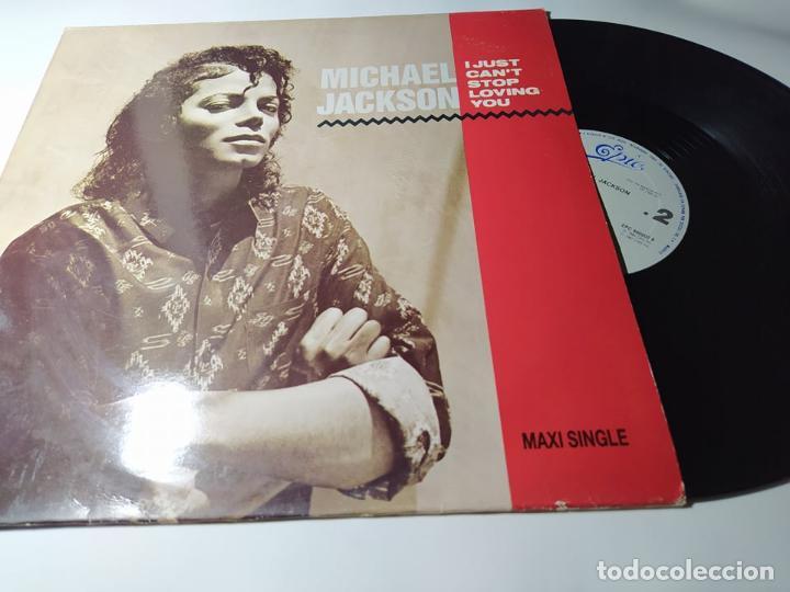 MAXI - MICHAEL JACKSON – I JUST CANT STOP LOVING YOU - EPC 650202 6 ( VG+ /VG+) SPAIN 97 (Música - Discos de Vinilo - Maxi Singles - Pop - Rock - New Wave Internacional de los 80)