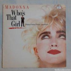 Discos de vinilo: MADONNA. WHO'S THAT GIRL. BSO. 7599-25611-1. 1987 ESPAÑA. DISCO VG+. CARÁTULA VG+.. Lote 212872828