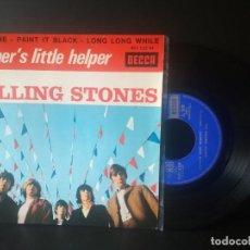 Discos de vinilo: THE ROLLING STONES MOTHER'S LITTLEHELPER + 3 EP FRANCIA 1966 PEPETO TOP. Lote 212873195